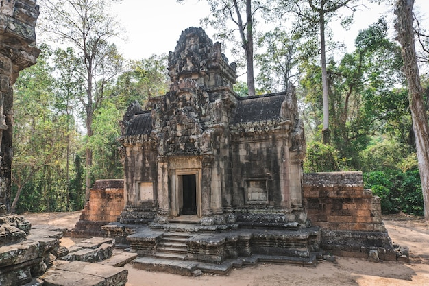 Antike angkor wat ruinen panorama thommanon tempel siem reap kambodscha