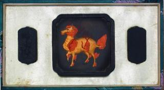 Antike chinesische tusche stein gemeißelt