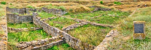 Antike griechische kolonie olbia in parutino, ukraine