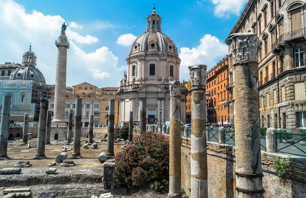 Antike ruinen von rom - kaiserliches forum