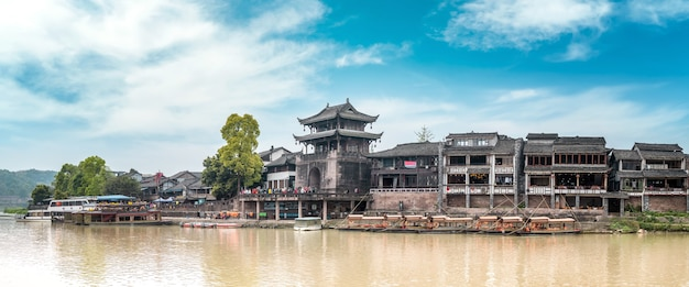 Antike stadt huanglongxi, chengdu, sichuan