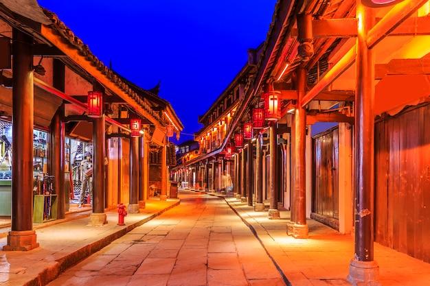 Antiken breiten gasse chinesischen sonnenschein