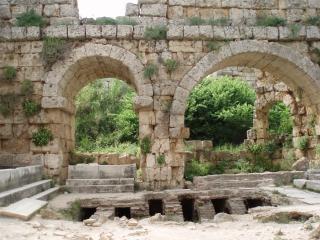 Antiken römischen bad in perge