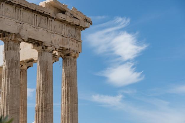 Antiker griechischer tempel von poseidon nahe der akropolis