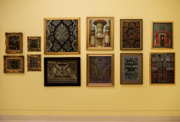 Antikes kunstgalerie-konzept