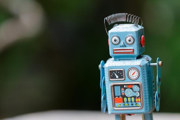 Antikes vintage retro roboter zinn spielzeug