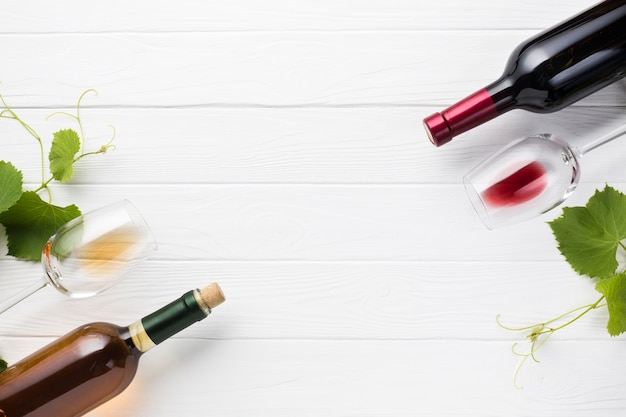 Antithese zwischen rot- und weißwein