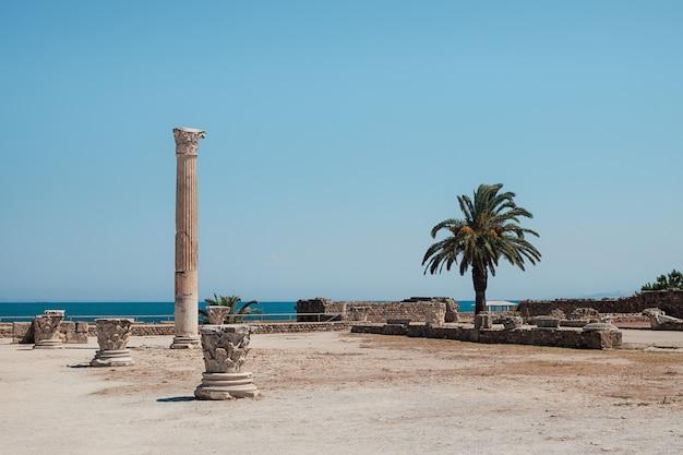 Antoninus pius thermalbäder, ruinen von karthago in tunesien