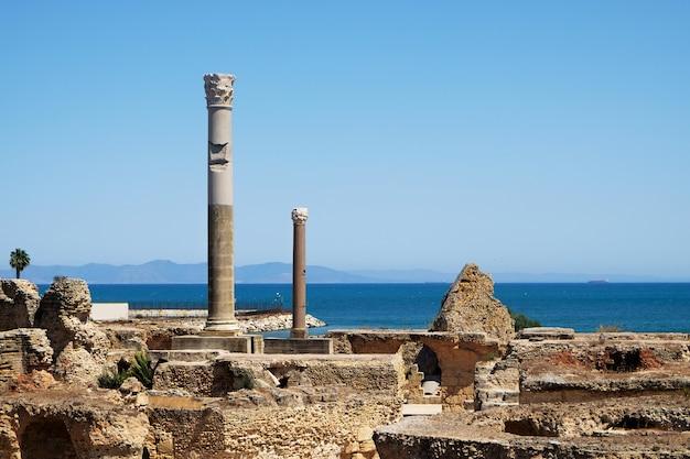 Antoninus pius thermalbäder, ruinen von karthago, tunesien