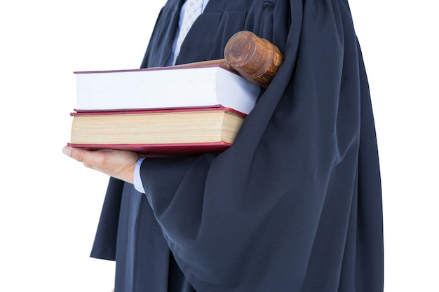 Anwalt hält waage der gerechtigkeit