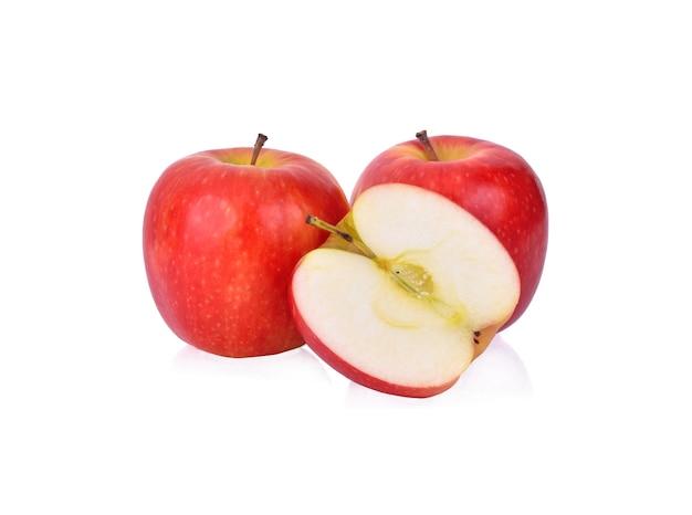 Apfel isoliert auf weißem hintergrund