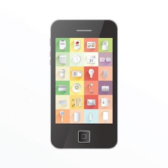 App-symbole auf dem smartphone-bildschirm