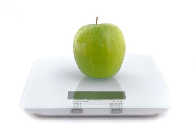 Apple auf einer skala