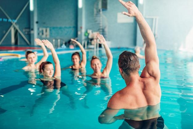 Aqua aerobic im wassersportzentrum