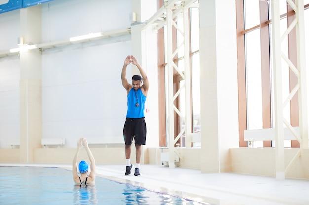 Aqua fitness im pool