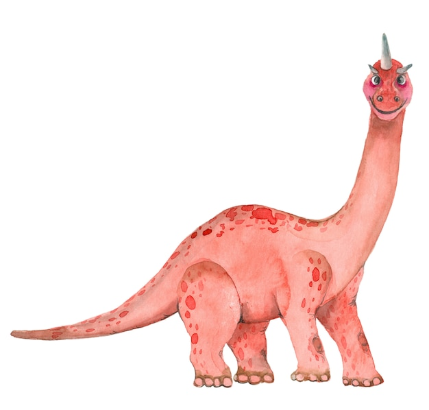 Aquarell dinosaurier brontosaurus