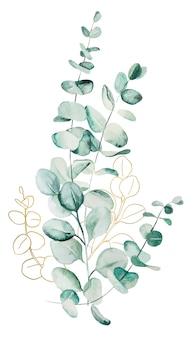 Aquarell eukaliptus blätter bouquet