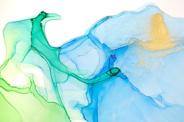 Aquarell grün und blau abstrakte flecken hintergrund. farbverlauf textur.