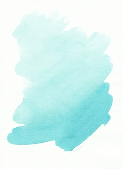 Aquarell hellblauer fleck