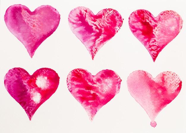 Aquarell herz valentinstag