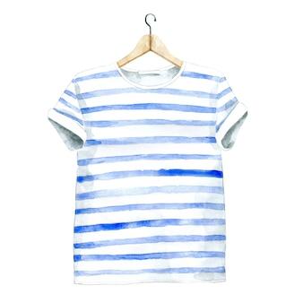 Aquarell lässiges t-shirt auf kleiderbügel