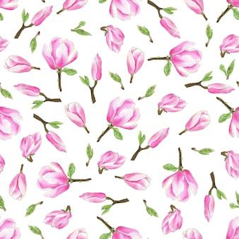 Aquarell-magnolien-muster
