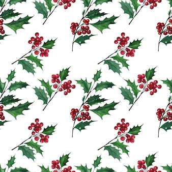 Aquarell mit weihnachtspflanze holly