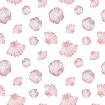 Aquarell-muschelmuster