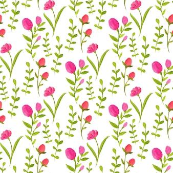Aquarell musterdesign mit rosa blüten.