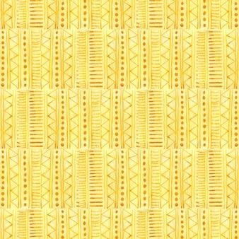 Aquarell nahtlose muster in gelber farbe. ethnisches textildesign.