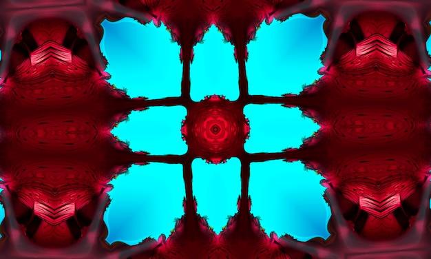 Aquarell neon cyan tiefblaues tintenquadrat auf bordo hintergrund.