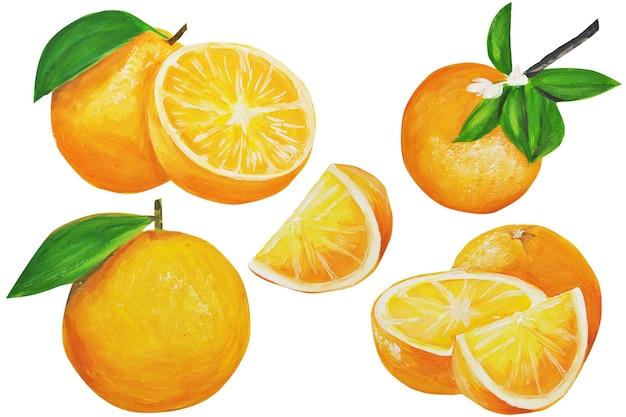 Aquarell orangen set.