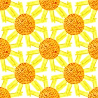 Aquarell sommer nahtlose muster. kann für die verpackung, textil-, tapeten- und verpackungsgestaltung von naturprodukten verwendet werden