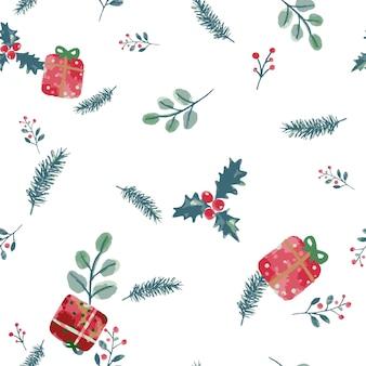 Aquarell weihnachten muster