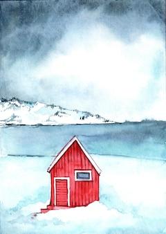 Aquarell winterillustration