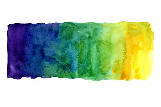 Aquarellbilder mit künstlerischen bunten abstrakten bildern auf weißem papier. aquarellkonzept.