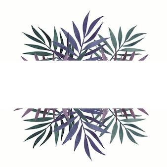 Aquarellblattrahmen mit platz für text, weihnachtskarte oder hochzeitseinladung