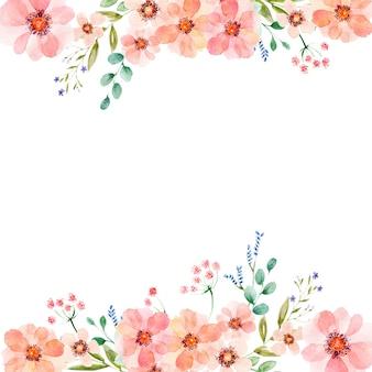 Aquarellblumenhintergrund in verschiedenen formaten