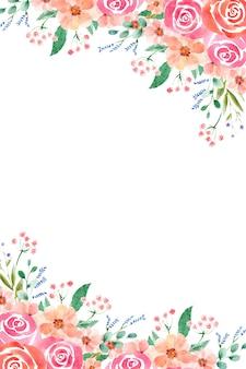 Aquarellblumenrahmen in verschiedenen formaten