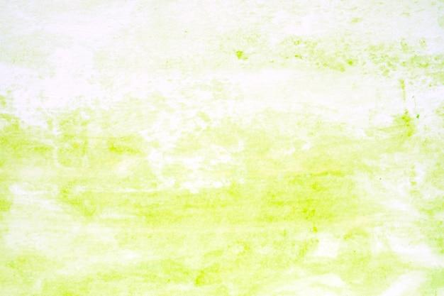 Aquarellhintergrund, strukturiertes design der abstrakten grünen aquarellmalerei der kunst auf weißbuch