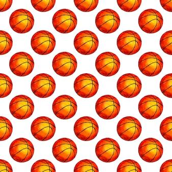 Aquarellillustration basketball ball nahtloser hintergrund perfekt für tapetenhüllen verpackung
