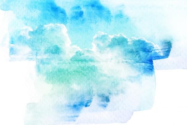 Aquarellillustration des himmels mit wolke.