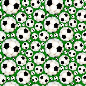 Aquarellillustration eines fußballmusters sportsymbol nahtloser wiederholender druck