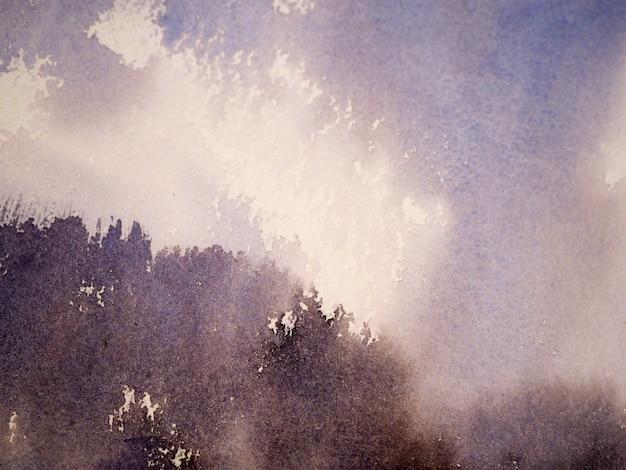 Aquarellmalerei auf abstraktem papierhintergrund.