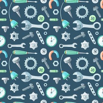 Aquarellmetallwerkzeuge und ersatzteile