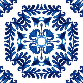 Aquarellmuster kreuz keramik mosaikfliese mit blume