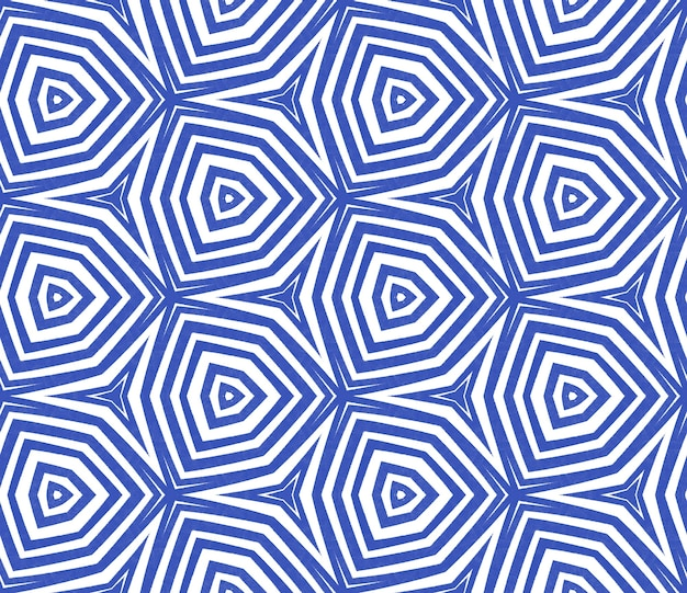 Arabesque handgezeichnetes muster. indigo symmetrischer kaleidoskophintergrund. textilfertiger bewundernswerter druck, bademodenstoff, tapete, verpackung. handgezeichnetes design der orientalischen arabeske.