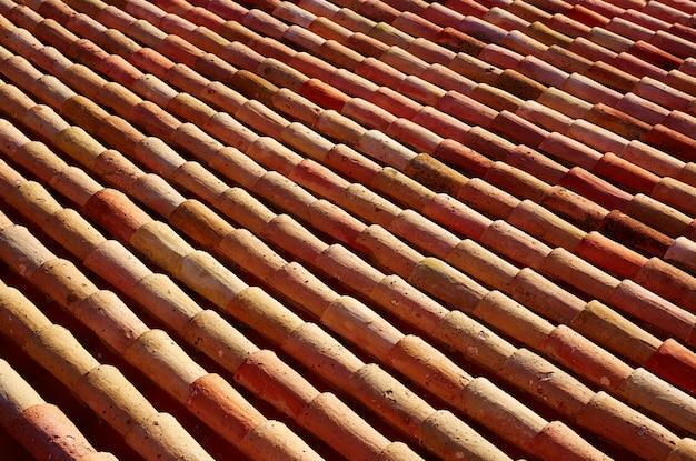 Arabische dachziegel in teruel von spanien