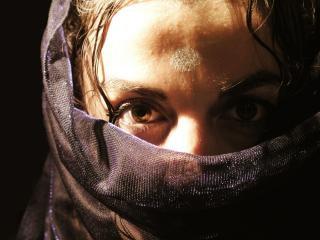 Arabische frau mit schleier