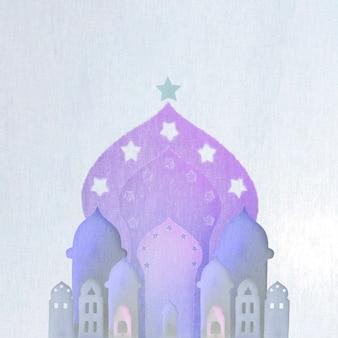 Arabische gebäude aus papier ausgeschnitten